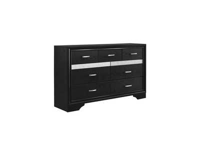 Miranda Black Seven-Drawer Nightstand