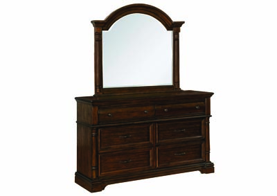 Heirloom Brown Dresser w/Mirror