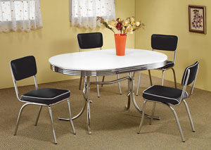 Chrome Plated Retro Dining Chair (Set of 2)