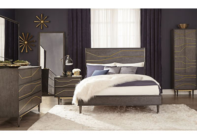 Tarah Graphite Queen Platform Bed