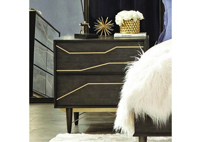 Tarah Graphite Nightstand