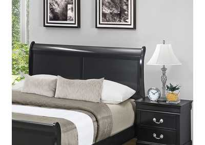 Black Panel Full Bed