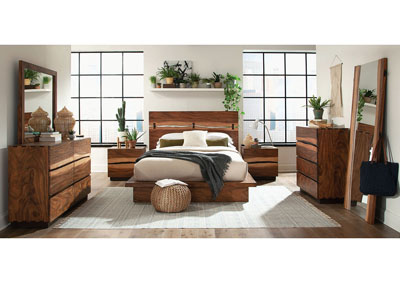 Smoky Walnut Eastern King Platform Bed