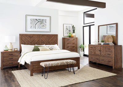 Reeves Mojave Brown California King Bed
