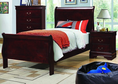 Louis Philippe Cherry Twin Panel Bed