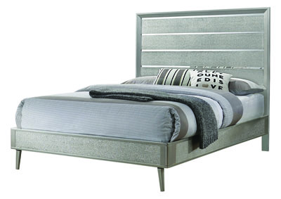 Metallic Sterling Queen Bed