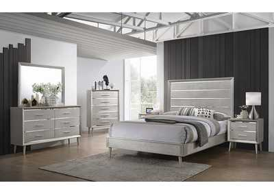 Image for Ramon Metallic Sterling Panel Queen 5 Piece Bedroom Set