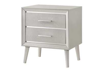 Metallic Sterling Nightstand