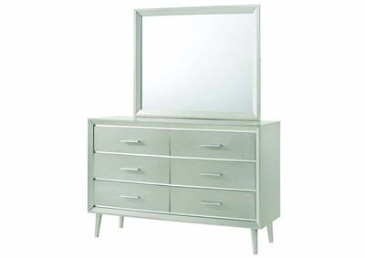 Metallic Sterling Dresser w/Mirror