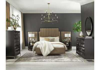 Image for Formosa Fuscous Gray 4 Piece Eastern King Bedroom Set