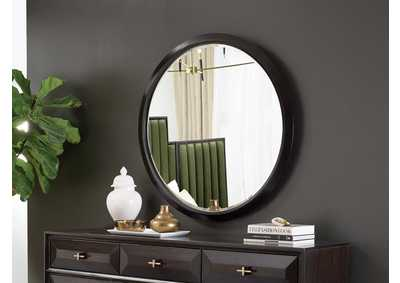 Formosa Brown Round Wall Mirror