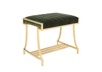 Formosa Dark Moss Vanity Stool