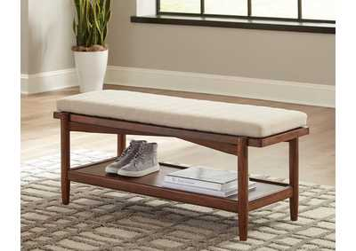 San Mateo Desert Teak 1-Shelf Bench