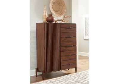 Image for San Mateo Desert Teak 5-Drawer & Door Chest