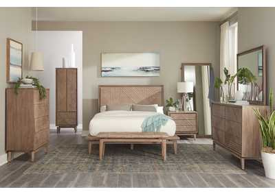 Vanowen Sandstone Platform Queen 4 Piece Bedroom Set
