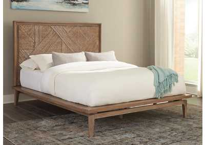 Vanowen Brown Platform Eastern King Bed