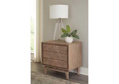 Vanowen Brown 3-Drawer Nightstand