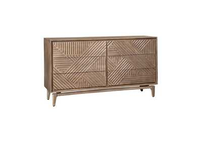 Vanowen Brown 6-Drawer Dresser