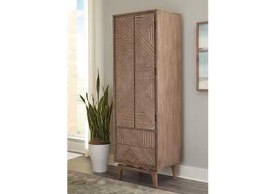 Vanowen Brown 2-Drawer Shoe Cabinet