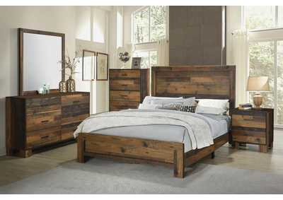 Sidney Rustic Pine Eastern King Bed