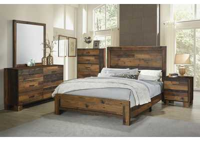 Sidney Rustic Pine Twin Bed