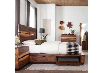 Image for Winslow Smoky Walnut & Coffee Bean Storage Queen Bed