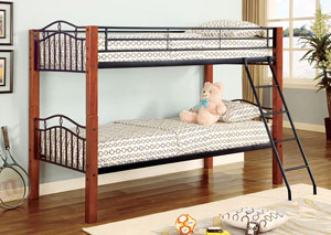 Image for Tasman Collins Transitional Cinnamon Bunk Bed