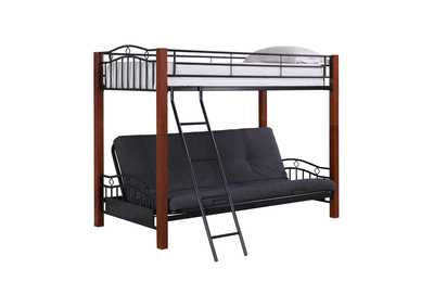 Image for Shark Collins Collection Cinnamon and Black Transitional Bunk Bed