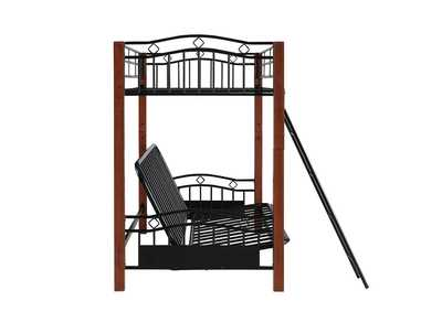 Shark Collins Collection Cinnamon and Black Transitional Bunk Bed,Coaster Furniture