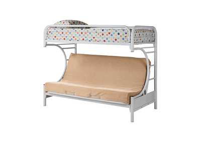 Image for Tan Atticus Twin-over-Full White Bunk Bed