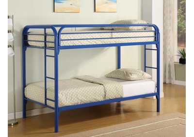 Morgan Blue Twin/Twin Metal Bunk Bed