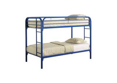 Image for Sisal Morgan Twin-over-Twin Blue Bunk Bed
