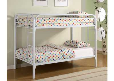 Morgan White Twin/Twin Metal Bunk Bed