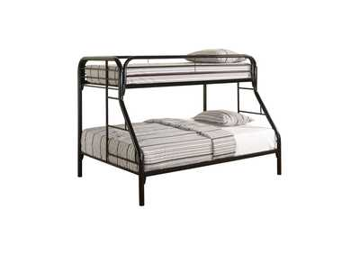 Image for Cultured Pearl Morgan Twin-over-Full Black Bunk Bed