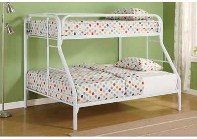 Morgan White Twin/Full Metal Bunk Bed
