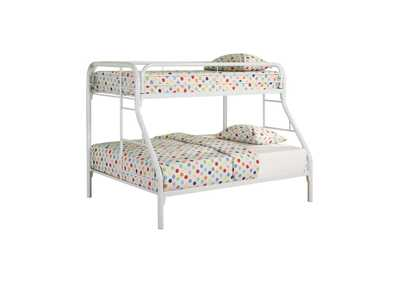 Westar Morgan Twin-over-Full White Bunk Bed,Coaster Furniture