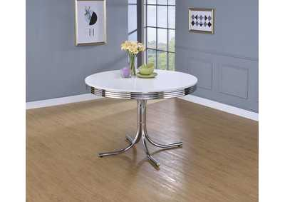Furniture and More For Less Round Retro Dining Table