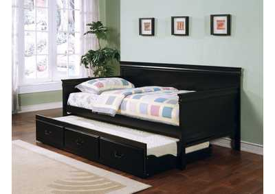 Eerie Black Louis Philippe Traditional Black Twin Daybed,Coaster Furniture