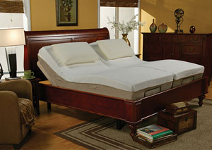 Premier Beige Twin Adjustable Bed
