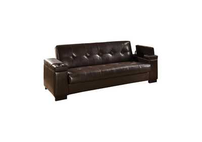 Image for Oil Transitional Dark Brown Sofa Bed