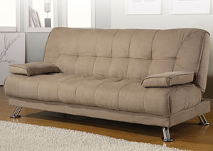 Tan Microfiber Sofa Bed