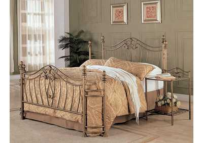 Sydney Golden Metal Queen Bed
