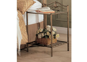 Sydney Golden Metal Nightstand