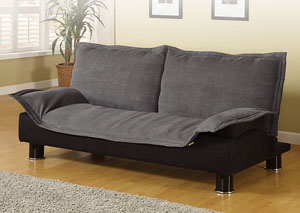 Grey & Black Futon Sofa Bed