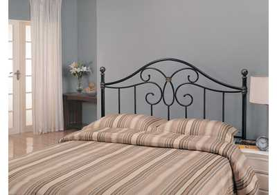Image for Traditional Black Iron Queen Headboard