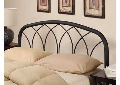 Image for Traditional Black Queen/Full Headboard W/ Arches