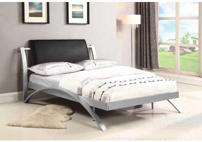 LeClair Black/Silver Youth Full Bed