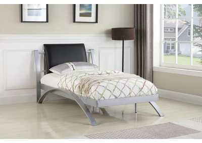 LeClair Black/Silver Youth Twin Bed