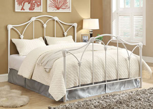 Scarlett White Queen Bed (Requires Additional Frame)