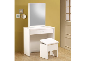 White 2-Piece Vanity Set